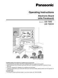 Assembly Instructions - Operating Manuals for Panasonic Products ...