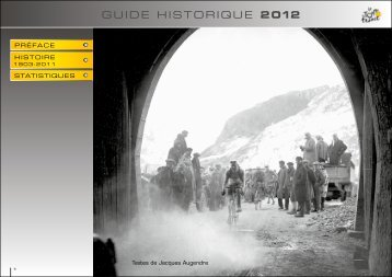 GUIDE HISTORIQUE 2 012 - Le Tour de France