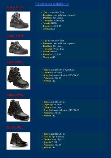 Chaussures non-mtalique