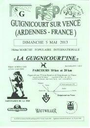 GUIGNICOURT UR VENCE (ARDENNES — FRANCE) - FFSP