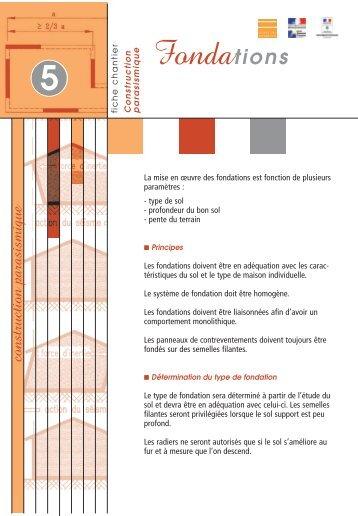 Amazing Profondeur De Fondation Maison With Type Fondation Maison