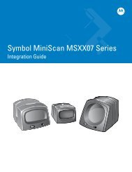 Symbol MiniScan MSXX07 Series Integration Guide (p/n 72E-67135 ...