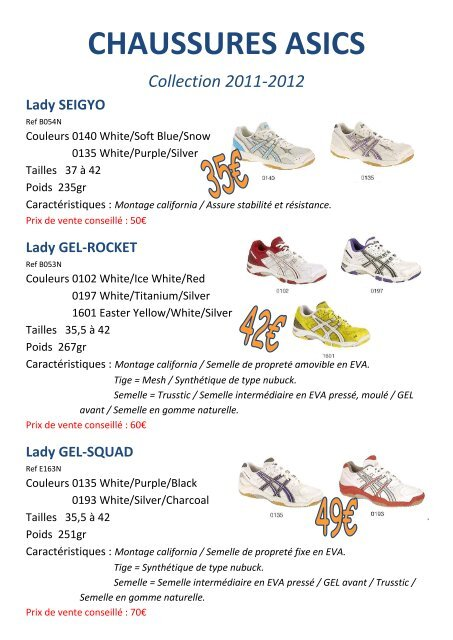 Chaussures pdf Catalogue Volleyfr Iroise Asics n80wPXOk