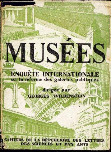 Léon Rosenthal, « De la réforme des musées d'art - Centre Georges ...