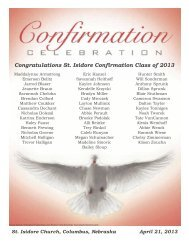 Congratulations St. Isidore Confirmation Class of 2013
