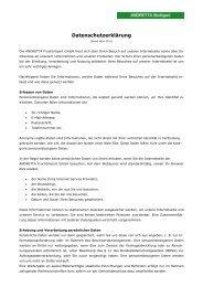 Datenschutzerklärung - Andretta