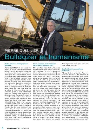 Pierre CUISINIER Bulldozer et humanisme - entrées libres