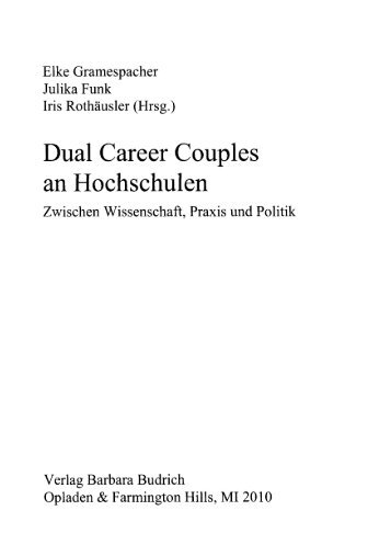 Dual Career Couples an Hochschulen