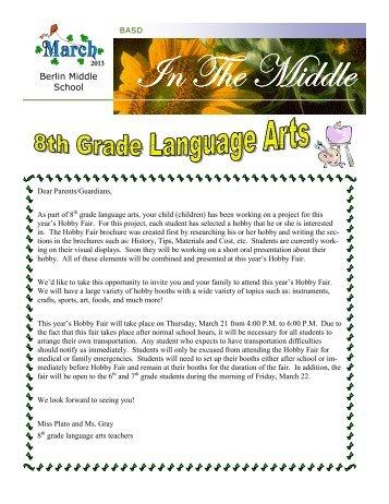March 2013 Newsletter - Berlin Area School District