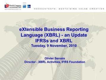 eXtensible Business Reporting Language (XBRL) - an Update ...