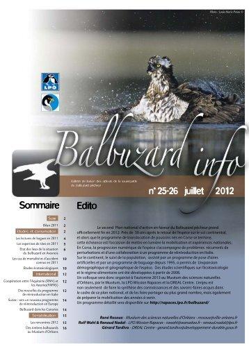 Balbuzard Info n°25-26 - LPO Mission rapaces