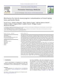 Risk factors for Listeria monocytogenes contamination in French ...