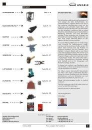 ANGELE Schmiedetechnik Katalog 2006