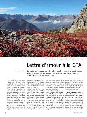 Grande randonnée: Lettre d'amour à la GTA - Magazine