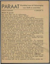 Paraat nr. 1 - Vakbeweging in de oorlog