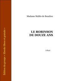LE ROBINSON DE DOUZE ANS - CRDP