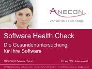 03 Dietrich Der Software Health Check - Anecon