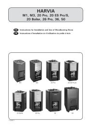 Instructions d'installation et d'utilisation - Harvia