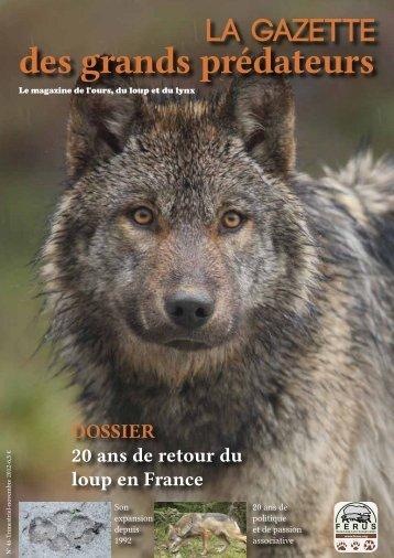 Gazette des grands prédateurs - Ferus