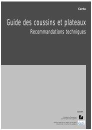Guide des coussins et plateaux - Conseil général des Yvelines