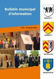 Bulletin municipal d'information - Berstett