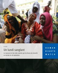 Un lundi sanglant - Human Rights Watch