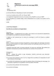 Règlement ramonage - Canton de Neuchâtel
