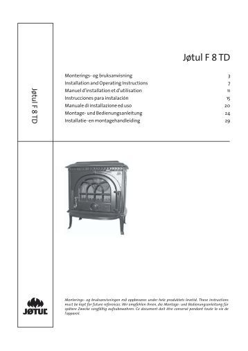 Jotul 8 installation manual