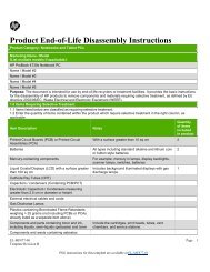 Product End-of-Life Disassembly Instructions - HP