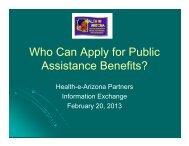 Health-e-Arizona Partners, Information Exchange, February 20, 2013