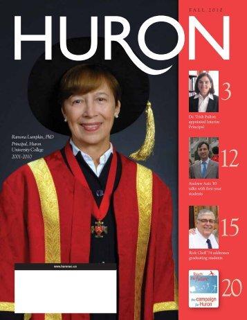 Ramona Lumpkin, PhD Principal, Huron University College 2001 ...
