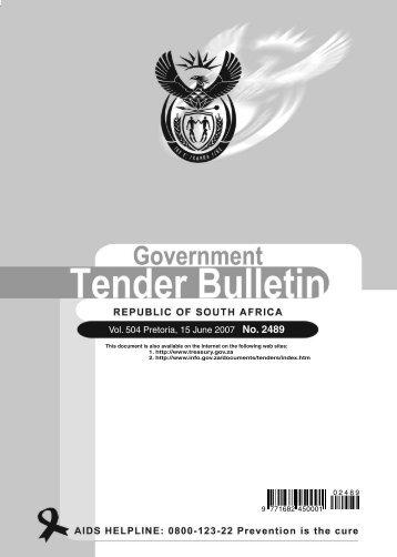 2489 - 15 June - National Treasury