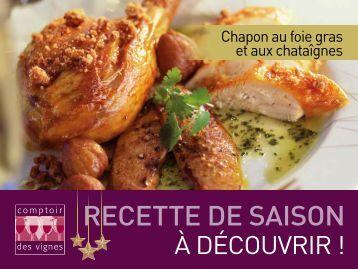 RECETTE DE SAISON RECETTE DE - Comptoir des Vignes