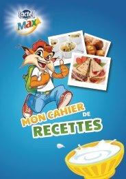 Télécharge et imprime ton cahier de recettes - Lactel Max