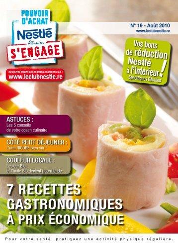 7 RECETTES GASTRONOMIQUES - Le Club Nestle