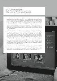 Die Loewe Premiumstrategie - Loewe AG > Aktuell