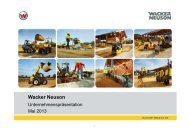 Unternehmenspräsentation - PDF 5,7 MB - Wacker Neuson SE
