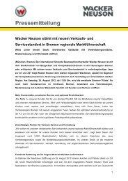 Niederlassung Bremen - PDF 36 KB - Wacker Neuson SE