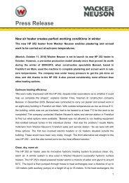 Press Release - Download - PDF 42 KB - Wacker Neuson SE