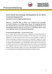 Pressemitteilung - Betriebsjubiläum - PDF 39 KB - Wacker Neuson SE