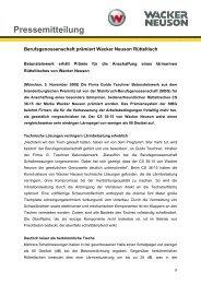 Pressemitteilung - Lärmarmer Rütteltisch - PDF 40 KB