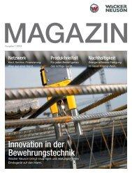 Innovation in der Bewehrungstechnik - Wacker Neuson SE