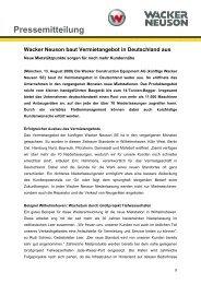 Neue Mietstützpunkte - PDF 39 KB - Wacker Neuson SE
