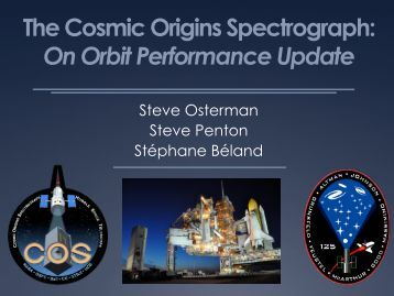 The Cosmic Origins Spectrograph: On Orbit Performance Update