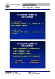 Lezioni 8-9 - Corsi di Laurea a Distanza - Politecnico di Torino