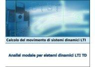Analisi modale di sistemi dinamici LTI a tempo discreto