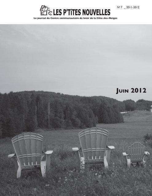 JUIN 2012 - Centre Communautaire de Loisir de la Côte-des-Neiges