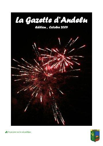 Gazette NOVEMBRE 2009 - Andelu