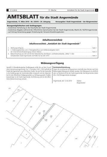 Amtsblatt für die Stadt Angermünde - Nr. 03/2010