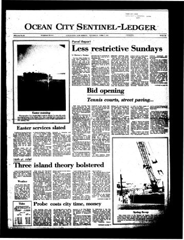 Less restrictive Sundays - On-Line Newspaper Archives of Ocean City
